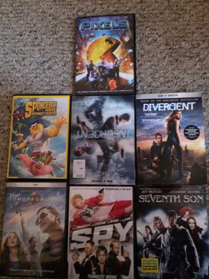 7 MOVIES THE BEST MOVIES OF 2015 brand new , use one time only, for Sale in Riverdale Park, MD