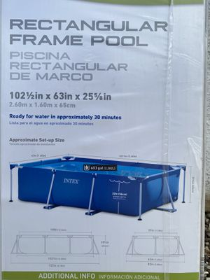 Intex 8.5ft x 26in Rectangular Frame Swimming Pool for Sale in Montclair, CA