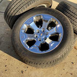 "20"" Chevrolet Silverado 1500 6 Lug 2020 Wheels Tires 275/55R20 Tahoe 6x5.5 for Sale in Matthews, NC"