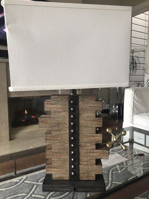 Pair of modern wood table lamps! for Sale in San Francisco, CA