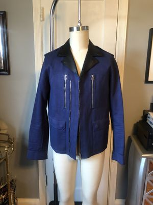 Men's Lanvin biker jacket size 52 (XL) leather paid $3,800 excellent condition. Only worn twice! for Sale in Washington, DC