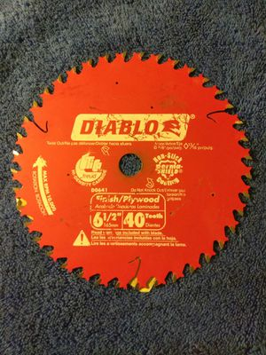 "DIABLO D0641X 6-1/2"",40-Teeth Circular Saw Blade (New) for Sale in Industry, CA"