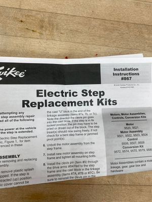 RV electric step replacement kit for Sale in Lakewood, CA