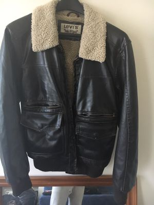 Real leather Levi's jacket-Small for Sale in Philadelphia, PA