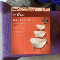 Buffet Server Bowl and Rack for Sale in Garland,  TX
