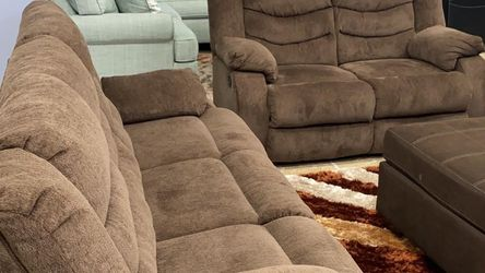 Brand New Ashley Living Room Set Chocolate ❗$39 Down Payment 100 Days Same As Cash for Sale in Austin,  TX