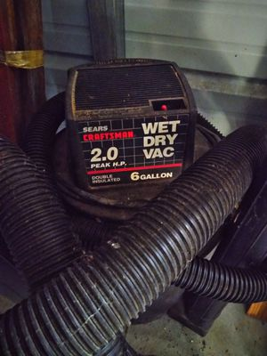 CRAFTSMAN wet/dry vacuum 2.0hp 6gallon for Sale in New Bern, NC