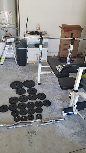 Weight set (PICK UP ONLY!!!) for Sale in Riverside, CA