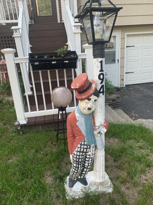 Antique piece - drunk Charlie Chaplin lamp post for Sale in Pawtucket, RI