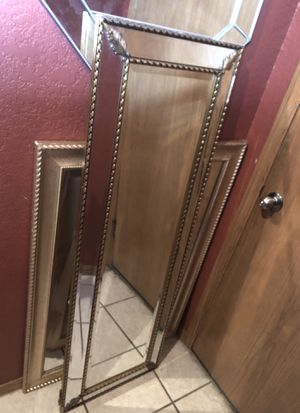 Floor or wall heavy duty gold and brown mirror for Sale in Derby, KS