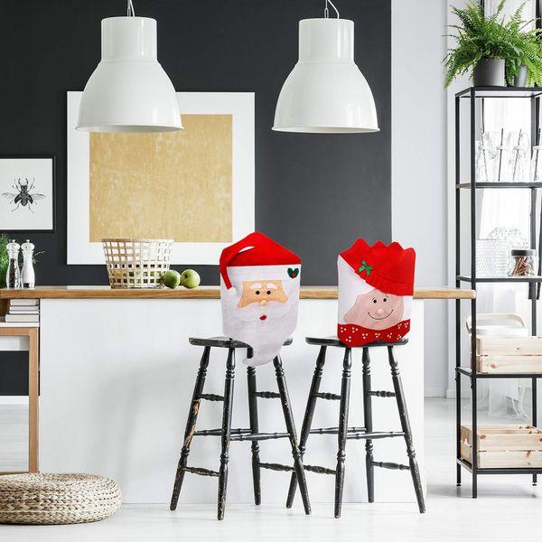 New Santa Claus Christmas Chair Cover