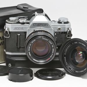 Canon AE1 Film SLR w Winder, 50 f1.4, 18mm Lenses for Sale in Hollywood, FL