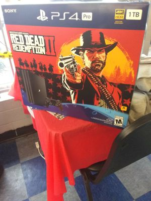 PS4 pro with red dead redemption for Sale in Dallas, TX