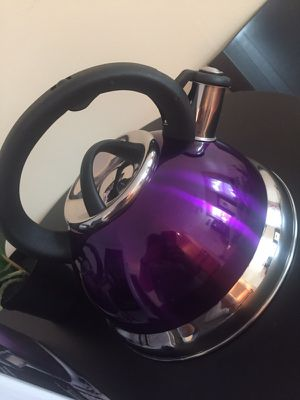 Stainless Steel Tea Kettle/Pot- Purple for Sale in St. Louis, MO