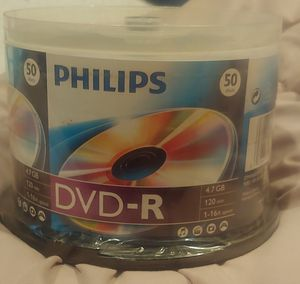 Philips DVD-R 50 discs for Sale in Harrison charter Township, MI