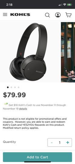 SONY Bluetooth Headphones for Sale in Summerville,  SC