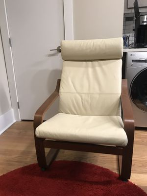 "Ikea ""Poäng"" leather and solid wood armchair for Sale in Washington, DC"
