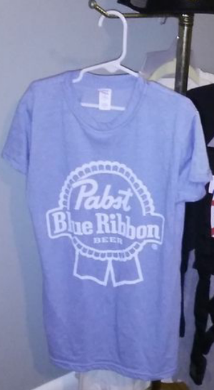 Used, New Pabst Blue Ribbon - Light Blue T-Shirt - Size S - PBR Beer Logo Merchandise - Collectable Man-Cave Decor for Sale for sale  Ashland City, TN