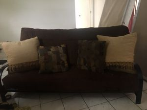Futon Microfiber large queen size needs go Today! Mattress bed for Sale in Boca Raton, FL