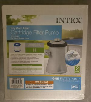 Intex 28601EG 330 GPH Easy Set Swimming Pool Cartridge Filter Pump with GFCI for Sale in Winter Park, FL