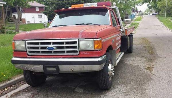 89 Ford f450 Rollback.