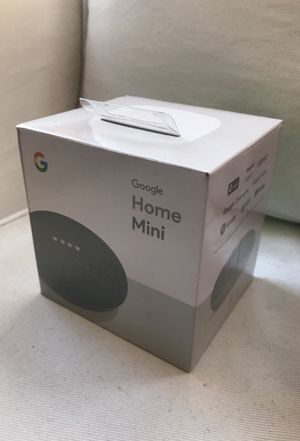 Google - Home Mini - Smart Speaker with Google Assistant - Charcoal Brand New never opened for Sale in Washington, DC