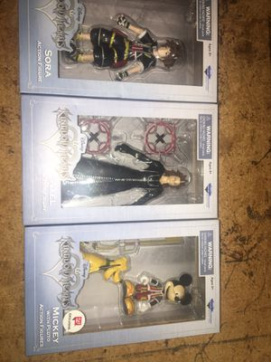Kingdom hearts action figures set of two for Sale in Stockton, CA