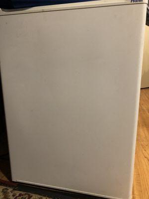 Mini Haier fridge with little freezer works great for Sale in Sterling, KS