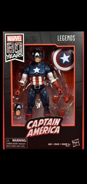 Marvel legends 80th anniversary captain America wal mart exclusive for Sale in Fresno, CA