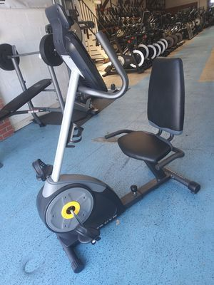 Very affordable! We have a Golds Gym Recumbent Recline Exercise Bike for Sale in Santa Ana, CA