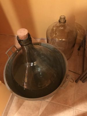 Demijohn 14 gallon + the other one in the back for Sale in Elgin, IL