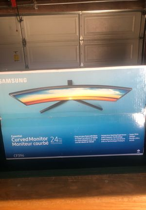 """Samsung 23.5"""" FHD Curved LED-Lit FreeSync Monitor (LC24F396FHNXZA) for Sale in Ontario, CA"""