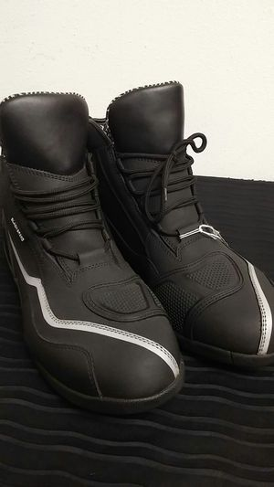 Black Brand Motorcycle Street Boots Size Men's 11.5 for Sale in Signal Hill, CA
