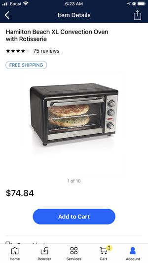 Hamilton beach toaster oven for Sale in Stephens City, VA
