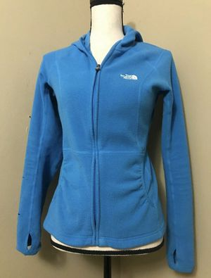 THE NORTH FACE Polartec Turquoise Blue Hooded Fleece Jacket Hoodie Womens Small for Sale in Portland, OR