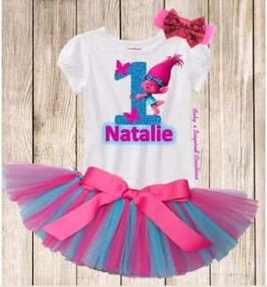 Trolls Princess Poppy Birthday Tutu Outfit Set for Sale in Miami, FL