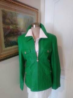 Brand new, Beautiful Lime Lambskin Leather Jacket for Sale in Hawthorne, CA