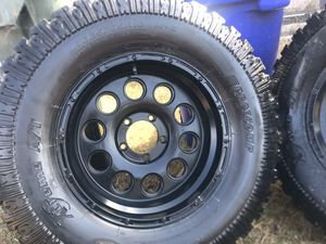 """Big 35"""" on 18 black off-road wheels rims and tires. for Sale in Imperial Beach, CA"""