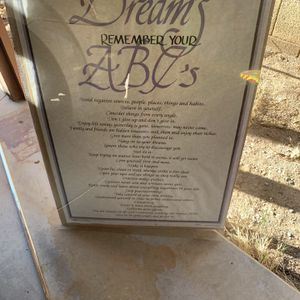 Free::framed Poster To Achieve Your Dreams/remember Your AB C's for Sale in Glendale, AZ