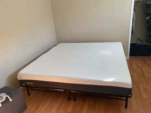 West Elm King size headboard, frame, and TULO mattress for Sale in Oakland, CA