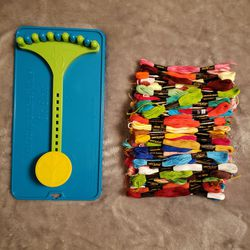 Friendship Bracelet Maker Clip Board & Embroidery Thread for Sale in Montesano,  WA