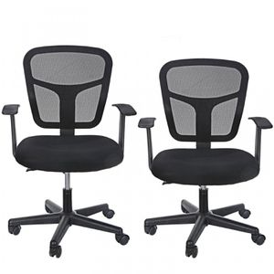 2 Ergonomic Comfortable Rotatable Midback Office Chair with Armrests Mesh Back for Sale in Wildomar, CA