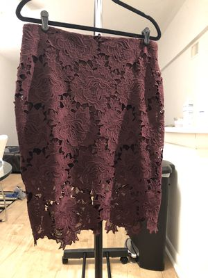 Maroon Lace Pencil Skirt for Sale in Coconut Creek, FL