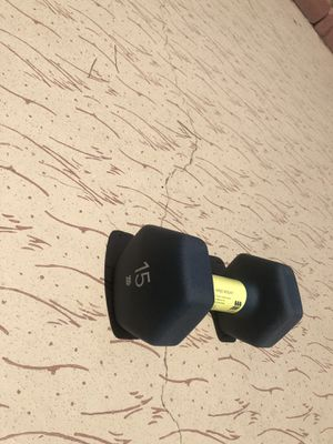 ONE 15lb Coates Dumbell Weight for Sale in Sun City, AZ