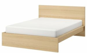 King Size Bed Frame with Center Beam (oak stained white veneer) for Sale in Gaithersburg, MD