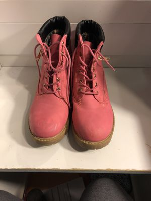 Pink work boots for Sale in Ipswich, MA