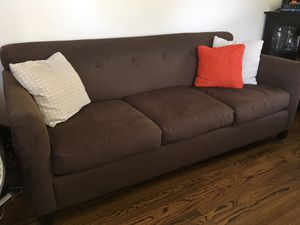 FREE Brown Linen Couch for Sale in Los Angeles, CA