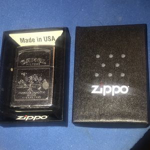Vintage 1995 Zippo Camel Cigarette Lighter Chrome Double sided Design New factory hinge and insert for Sale in Bridgeport, CT