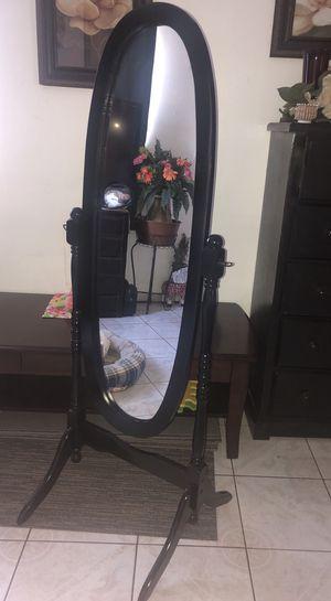 Oval Black Tilt Mirror for Sale in Downey, CA