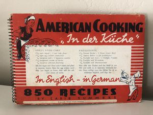 Vintage in English - in German Cookbook (1952) for Sale in San Diego, CA